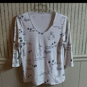 ❤️Ella Cat Print Tee Shirt Size L